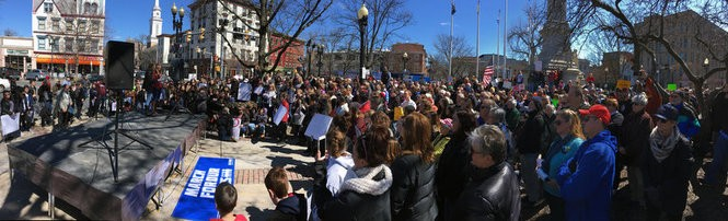 March for Our Lives brought hundreds to Easton's Centre Square as part of a national protest against gun violence happening in hundreds of cities on March 24, 2018. (Steve Novak | For lehighvalleylive.com)
