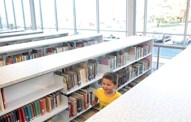 Kids explore the new 2,780-square-foot children's wing of the Emmaus Public Library on Nov. 8, 2018.