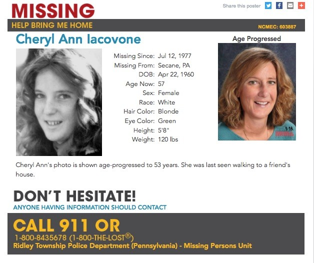 58 from Pa  who went missing as children more than 5 years