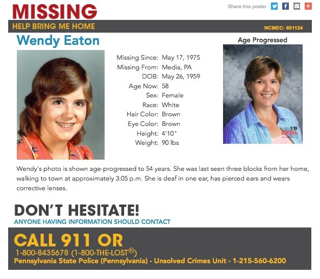 58 from Pa  who went missing as children more than 5 years ago