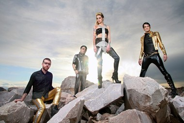 Rock band Shiny Toy Guns performs Thursday at Crocodile Rock Cafe in Allentown.