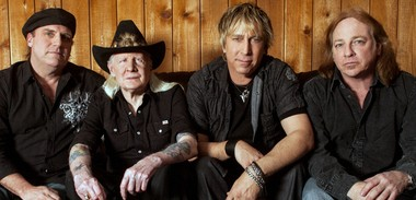 Johnny Winter, second from left, and his band will perform Saturday night at Centenary College in Hackettstown.