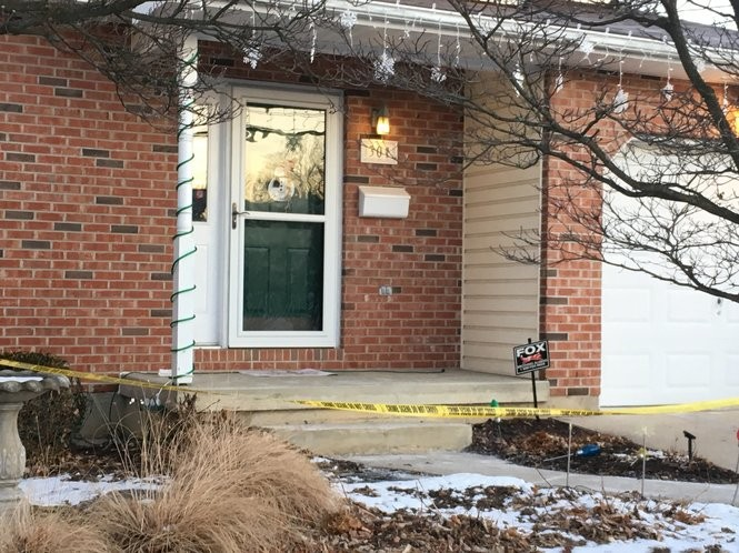 Police tape remained up the morning of Jan. 3, 2017, outside 301 W. 27th St. in Northampton, the site of a murder-suicide hours earlier. (Tony Rhodin | For lehighvalleylive.com)
