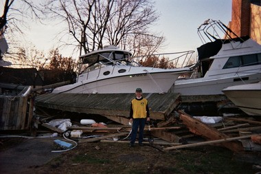Ruth Cahill in New York City following Superstorm Sandy.