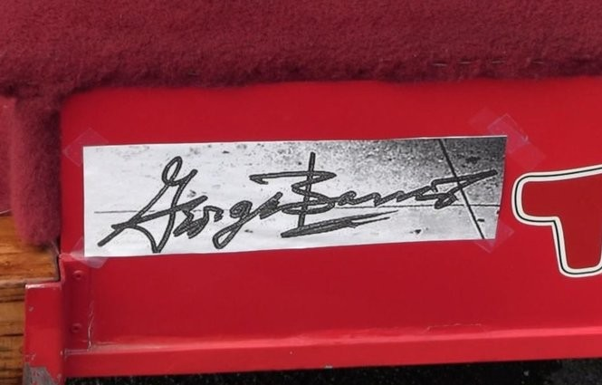 """George Barris's signature is on a plate on the Toys """"R"""" Us Geoffreymobile, which he designed."""