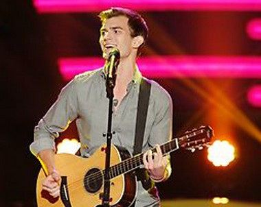 """Christian Porter, of Stroudsburg, performs on """"The Voice."""""""