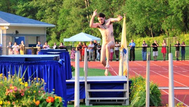Police say Alexander Capezzuto-Haraka, 20, of Nashville, Tenn., was the streaker at Warren Hills Regional High School graduation. He is charged with disorderly conduct and resisting arrest.