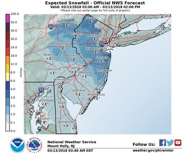 Snow In Slate Belt Delays School Openings Lehighvalleylivecom - Us-snow-belt-map