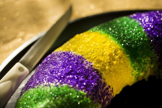 This is a homemade king cake from food writer Judy Walker's kitchen. (Photo by Chris Granger, NOLA.com | The Times-Picayune archive)