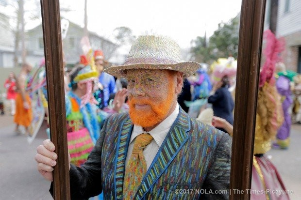The Society de Saint Anne is known for its artistic and elaborate costumes. (Photo by David Grunfeld, NOLA.com | The Times-Picayune)