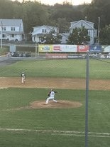 Blue Sox starter Endy Morales delivers a strike during the sixth inning of Wednesday's game against North Adams