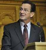 Connecticut Gov. Dannel Malloy speaks at the Capitol in Hartford.