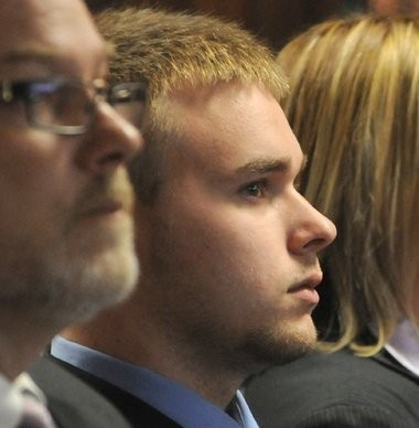 Sean Mulveyhill is seen in this file photo in Hampshire Superior Court Wednesday where he pleaded guilty to a single misdemeanor charge of criminal harassment in connection with the Phoebe Prince case.