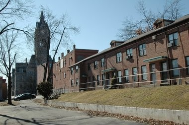 Part of the Lyman Terrace housing complex in downtown Holyoke.
