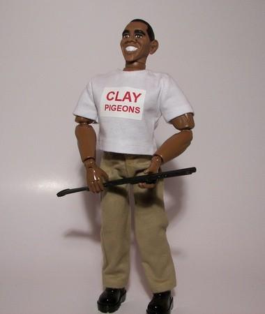 Skeeter, the Herobuilders.com action figure depicting President Obama engaging in skeet shooting, went on sale Monday.