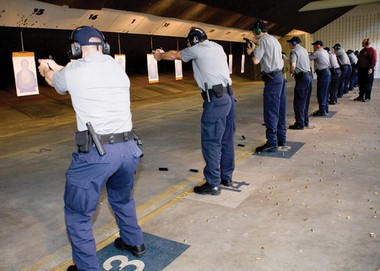 Federal agents practice on a range at the Federal Law Enforcement Training Center in Glynco, Ga. in this 2010 photo. The federal Homeland Security Department is purchasing more than 1.6 billion rounds of ammunition over the next 4-5 years for training and law enforcement operations. The purchase is being blamed by some for the shortage of ammunition at retail dealers.