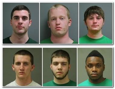 From left, top row: Michael R. Carmasine, Patrick R. Conlin, Christopher McGoldrick. Bottom row: Terence M. Meehan, Trevor C. Morency, Shane R. Niles.