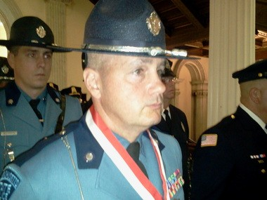 Trooper David Z. Podworski won two medals for lifesaving and valor.