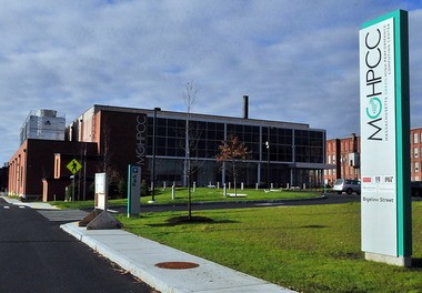 The Massachusetts Green High Performance Computing Center on Bigelow Street in Holyoke.