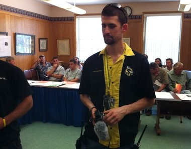 Ian Freeman, of Keene, N.H., is seen at an auction in Palmer Town Hall in the summer of 2011.