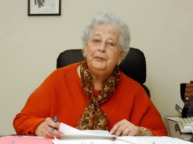 Barbara Rivera, director of the New North Citizens Council, sits at her office desk in Springfield's North End in November 2004. She directed the council for 31 years.