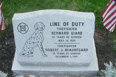 Ware fire fighters who are now deceased, Robert Beauregard, who died Dec. 3 1991 and Bernard âBernieâ Girard who died on May 5, 1975