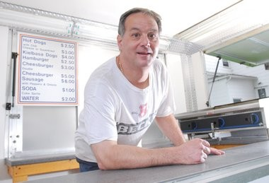 John Verducci, of Agawam, seen in this 2009 photo, told the Springfield City Council recenlty he's has been getting parking tickets on a daily basis the past three weeks, for having his cart parked on Worthington Street in the entertainment district while a proposed law governing street vendors is unresolved.