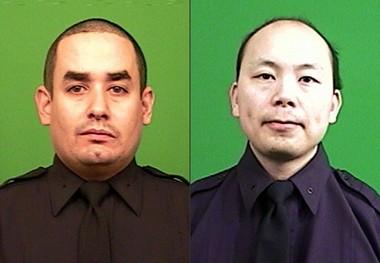NYPD officers Rafael Ramos, left, and Wenjian Liu.