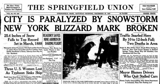 11 historic snow totals from Western Massachusetts winter storms