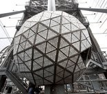 The Waterford crystal ball is shown atop One Times Square this week.
