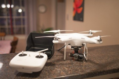 This is Holyoke photographer Jeffrey Byrnes' drone.