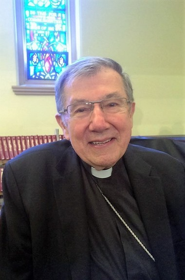 """Baltimore Auxiliary Bishop Denis Madden co-chaired the task force for """"Declaration on the Way"""" and is also a member of the United States Catholic Conference of Bishops Committee on Ecumenical and Interreligious Affairs that is chaired by Springfield Bishop Mitchell Rozanski and that approved the document in October. Madden is shown here at St. Michael's Cathedral when he attended Rozanski's 2014 installation."""