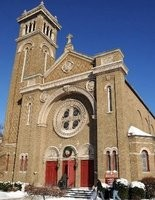 This closed Catholic church could house elementary school students while a new school is built.