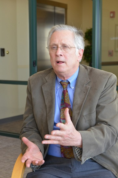 Common Capital CEO Christopher L. Sikes during an interview at Berkshire Bank.