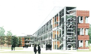 An artists conception of the new Westfield State University Science building.