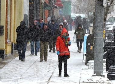 Winter 2013 on Main Street in downtown Northampton.