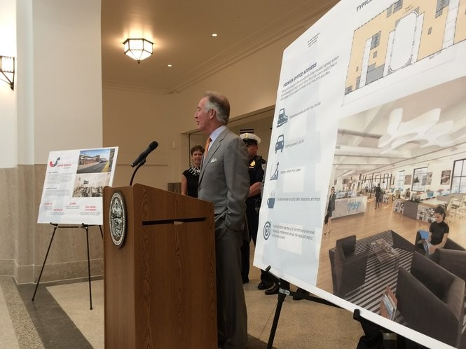 06/01/2017 - SPRINGFIELD - U.S. Rep. Richard E. Neal speaks Thursday as members of the Springfield Regional Chamber of Commerce tour Union Station ahead of its grand opening ceremonies June 23 and June 24.