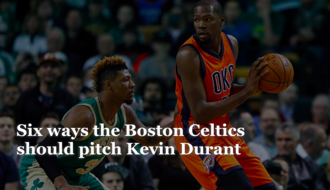 18009ea424e Six ways the Boston Celtics should pitch Kevin Durant - masslive.com