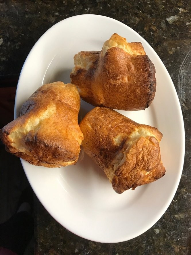 Three popovers on a plate