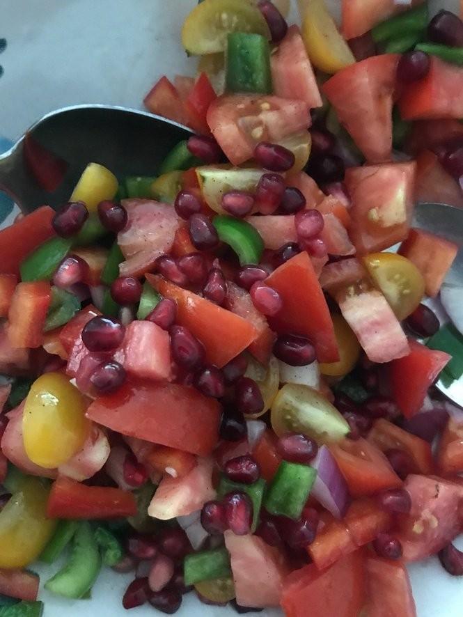 My salad ready to serve