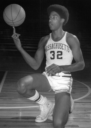 44d8f3b0c142 Dr. J or Julius Erving wearing his UMass uniform. He played for UMass from