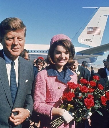 John and Jacqueline Kennedy at Love Field in Dallas, Texas on November 22, 1963. The president was assassinated later in Dallas. The photo was part of the recent JFK Experience at the Springfield Museums.