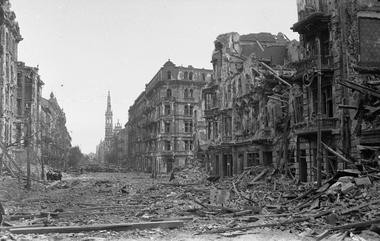 In this 1940s photo, the ruins of the Church of the Holiest Savior in Warsaw, Poland are seen, after World War II. The Renaissance-and-Baroque style church was completed in 1927 and then severely damaged during the war. Rebuilt under communist in the 1950s, it stands as a landmark in the Savior Square, sometimes called Hipster Square, which has become one of WarsawâÂÂs trendiest places after political and economic reform and attracts tourists, students and professionals alike.