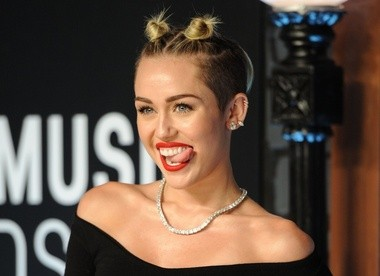 Miley Cyrus at the MTV Video Music Awards in the Brooklyn borough of New York on Aug. 25, 2013.