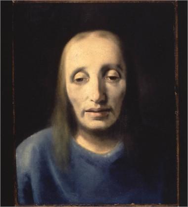 """""""Head of Christ,"""" circa 1939. Han van Meegeren; Oil on old canvas, relined."""