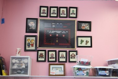 A small sample of the artwork created by Emily Engel, owner of Bx Custom Sewn at 244 Hubbard St. in Ludlow.
