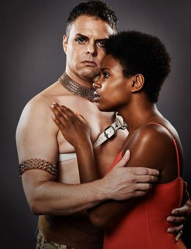 """Gene Dante and Ta'Nika Gibson star in """"Aida."""""""