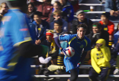 "A scene from a quidditch match in the documentary, ""Mudbloods."""