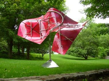 This sculpture by Bernard Klevickas is part of SculptureNow.