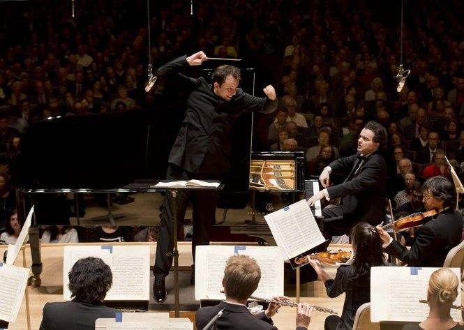 Evgeny Kissin and Andris Nelsons open the Boston Symphony season with Tchaikovsky's Piano Concerto No 1 at Symphony Hall in Boston on Thursday.
